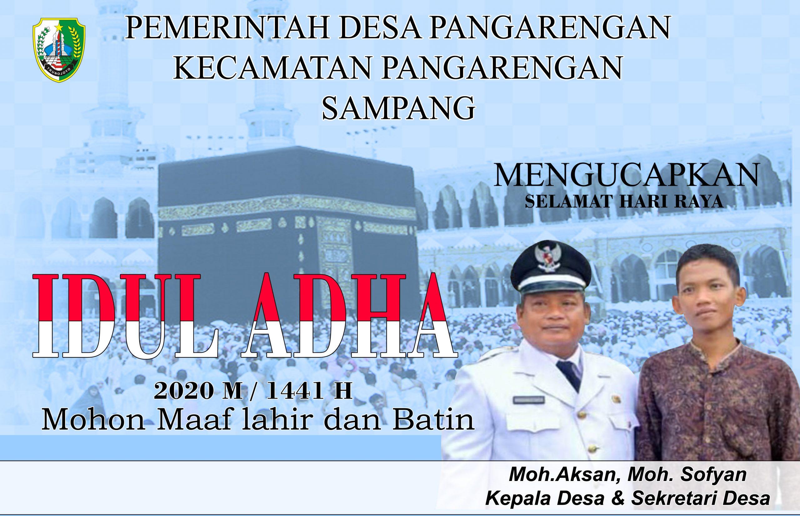 Pemdes Pangarengan Sampang Mengucapkan Selamat Hari Raya Idul Adha 1441 H