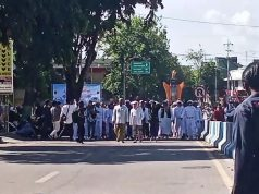 Massa aksi tolak RUU HIP di Sumenep, (Foto:Pojoksuramadu.com)